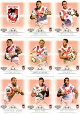2018 TLA NRL Elite 9-Card Mini Base Team Set St George Dragons