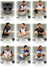 2018 TLA NRL Elite 9-Card Mini Base Team Set New Zealand Warriors