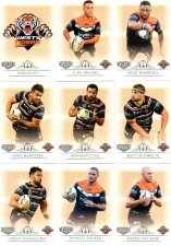 2018 TLA NRL Elite 9-Card Mini Base Team Set Wests Tigers