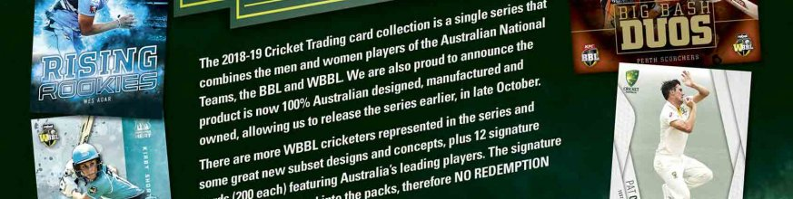 2018/19 Cricket Trading Cards Flyer