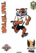 2014 NRL Power Play Mascot Sticker M16 Wests Tigers